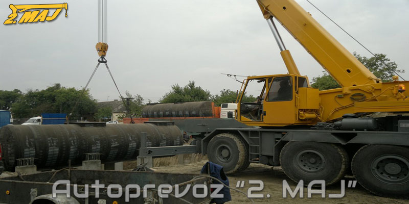 Lifting service for the company NIS, Novi Sad, on location in Sombor.