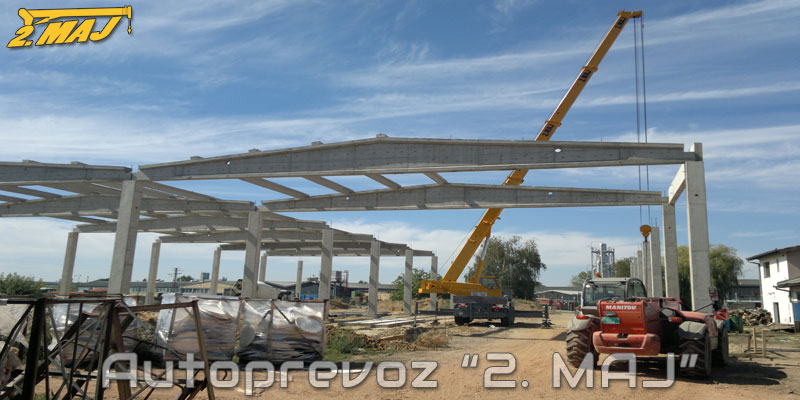 Erection of concrete structures for the company Radun engineering Bačka Palanka