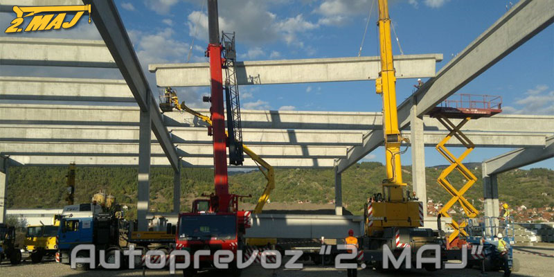 Erection of concrete structures for Michelin Serbia, Pirot
