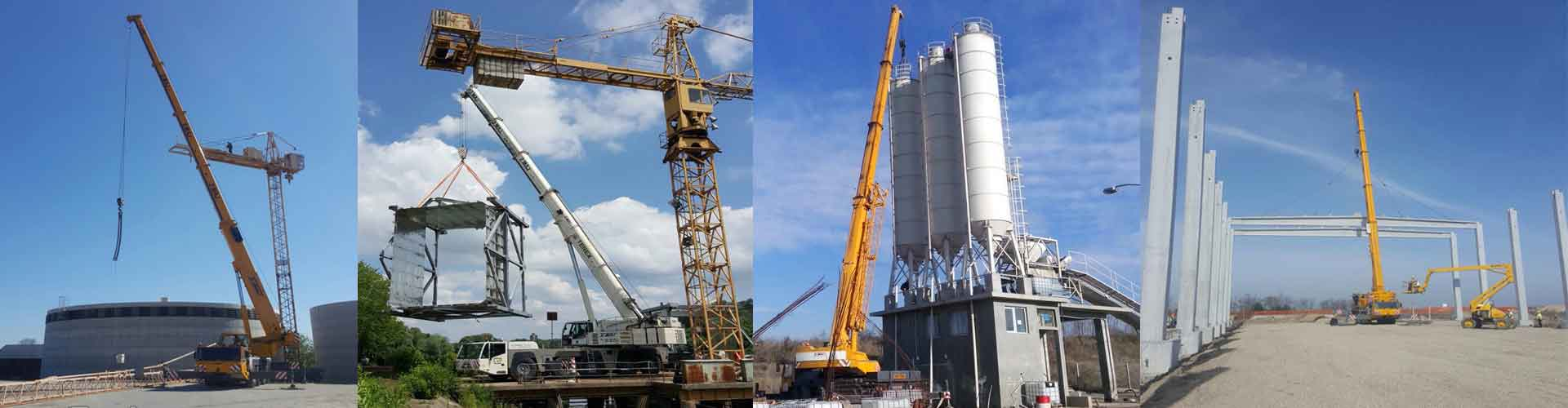 Crane rental service up to 250 tons